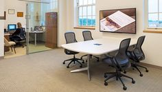 Dividends Horizon Table with ReGeneration by Knoll® Task Chairs   Knoll Activity Spaces
