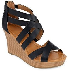 964e7e51ff8a3 A.N.A a.n.a Womens Taci Wedge Sandals Open Toe Shoes