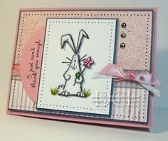 Thanks A Bunches Bunny - To see more ideas and order Stamps by Judith & Heather go to www.stampsbyjudith.com