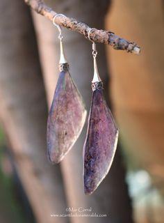 Fairie Wings Earrings, Dragonfly wings Earrings, Fairy wing Jewelry, long earrings, faerie jewelry, insect earrings, resin  earrings, magic de AcantiladoDolls en Etsy