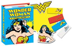 Don't forget your Lasso of Truth, your indestructible bracelets - or anything else! This booklet has hundreds of Wonder Woman notes to make all your reminders 100% more heroic. They're the #1 sticky n