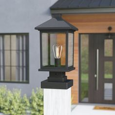 Take a peek at our domain for more with regard to this fabulous creative outdoor lighting Outdoor Pillar Lights, Outdoor Post Lights, Outdoor Lighting, Backyard Lighting, Exterior Lighting, Lighting Ideas, Lighting Design, Outdoor Lamp Posts, Lantern Post
