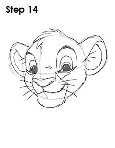 How to draw Simba