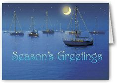 Seasonal Sailboats - Christmas Card #stonehousecards