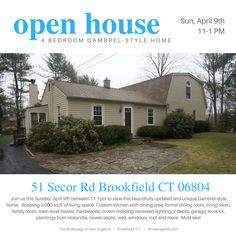 OPEN HOUSE TOMORROW, SUNDAY APRIL 9th BETWEEN 11-1PM. Join us to preview this beautifully updated Gambrel-Style home. Click the link for additional details.
