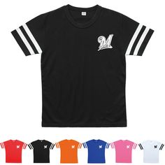 Milwaukee Brewers Logo Jersey Baseball Cool Dry T-Shirts Plain Sport Tee 0107 #fashion #clothing #shoes #accessories #mensclothi