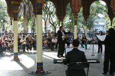 El Coro de la Ciudad de México en el Kiosko Morisco. Foto: Abril Cabrera / Secretaría de Cultura del GDF.