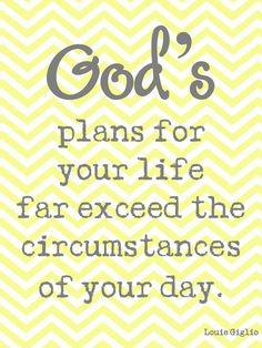 God's plans ...
