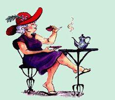 créa de mon amie Alice : dame au café