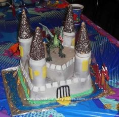 Homemade Dragon Castle Cake