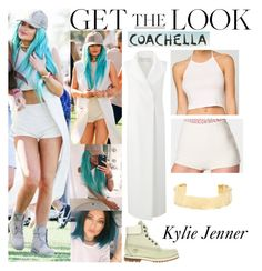 """""""Kylie Jenner Coachella April 10 2015"""" by valenlss ❤ liked on Polyvore featuring Amanda Wakeley, Jennifer Fisher, Timberland, Sachi and American Apparel"""