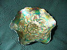 Fenton Holly Carnival Glass Bowl