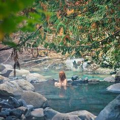 Relaxing in Sloquet Hot Springs near Whistler,BC, Canada Places To Travel, Places To See, Travel Destinations, Travel Photography Tumblr, Voyage Canada, Alaska Highway, Photos Voyages, Roadtrip, Vacation Trips