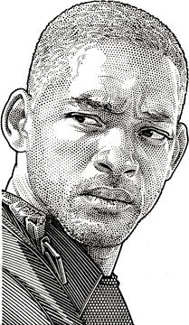 Wall Street Journal portrait (hedcut) of Will Smith