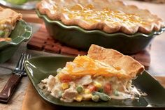 Chicken Pot Pie with Cheddar Cheese Topping