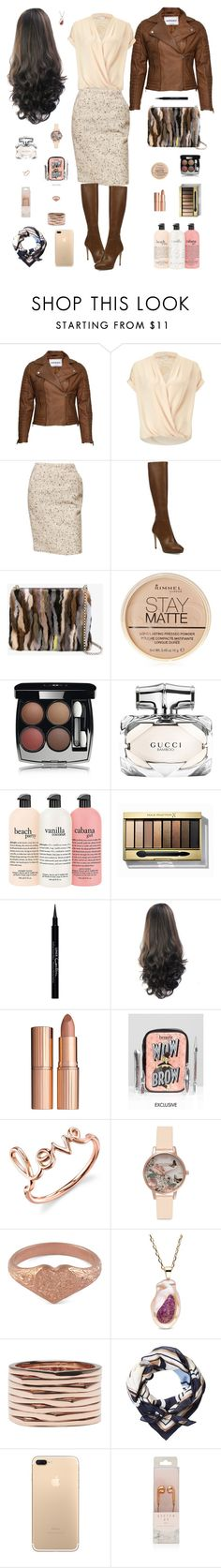 """""""Beauty Consultant"""" by lmello ❤ liked on Polyvore featuring VIPARO, Miss Selfridge, Jimmy Choo, Christian Louboutin, Rimmel, Chanel, Gucci, Max Factor, Givenchy and Charlotte Tilbury"""