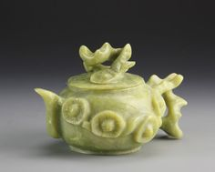 Chinese Carved Jade Teapot : Lot 453