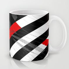 Buy black and white meets red Version 8 Mug by Christine baessler. Worldwide shipping available at Society6.com. Just one of millions of high quality products available.