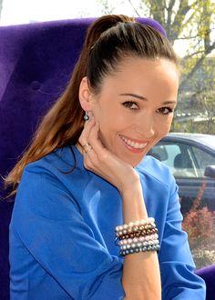 Aktorka Dorota Czaja w biżuterii Fuerza. #fuerza #aktorka #actress #collection #kolekcja #fashion #stylization #woman #kobieta #beautiful #look #bransoletki #bransoletka #bracelets #bracelet #jewelry