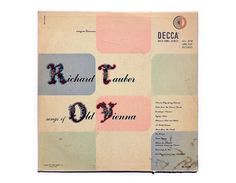 Erik Nitsche record album design 1951. Richard by NewDocuments, $15.00