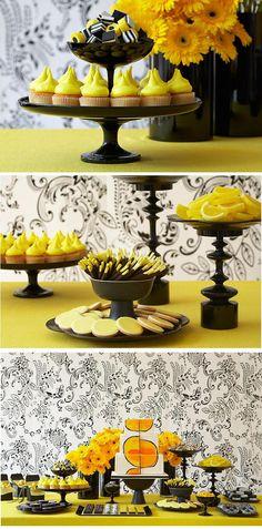 Decoração Amarelo e preto