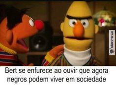 """Hey, Bert, remember When I said 'no homo' after the anal session? I lied. Dankest Memes, Funny Memes, Jokes, Bert & Ernie, Punch Man, Dark Memes, Funny Love, Popular Memes, Like4like"