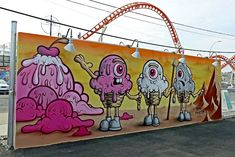 buff monster - Google Search Art Walls, Wall Art, Art Manifesto, Graffiti, Coney Island, Perfect Place, Culture, Aiko, Murals