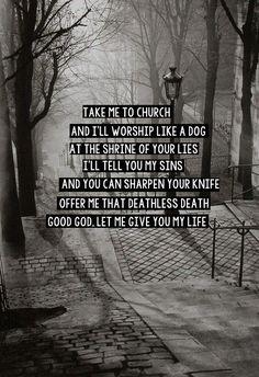take me to church - hozier lyric art