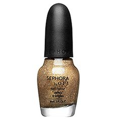 Nail Colour  Item # 1274299 Size 0.5 oz  Color Looks Like Rain Dear - opaque gold with fine and chunky iridescent glitter  QTY  $9.50