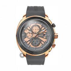 ec328cff3b Γυναικείο μοντέρνο αδιάβροχo ρολόι BREEZE Pacific Hype 1103316 με  χρονογράφο   γκρι καουτσούκ