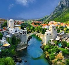mostar bridge, bosnia and herzegovina.