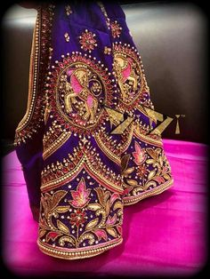 #jewellerymodel Wedding Saree Blouse Designs, Pattu Saree Blouse Designs, Fancy Blouse Designs, Traditional Blouse Designs, Maggam Work Designs, Blouse Models, 3d Max, Work Blouse, Marie