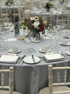 Table Setting for a Wedding at Horniman Conservatory