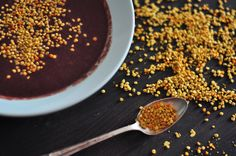 Bee pollen contains all the nutrients necessary for human survival. It's loaded with protein (20-30 per cent), antioxidants, all 22 amino acids, vitamins (including B-complex), enzymes, calcium, zinc, iron and folic acid. Each granule contains 2,000,000 flower pollen grains.