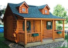 Log Cabin Playhouse Plans Free | Wooden Global                                                                                                                                                                                 More