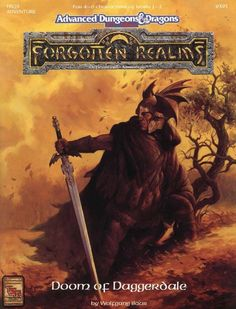 FRQ3 Doom of Daggerdale (2e) - Forgotten Realms | Book cover and interior art for Advanced Dungeons and Dragons 2.0 - Advanced Dungeons & Dragons, D&D, DND, AD&D, ADND, 2nd Edition, 2nd Ed., 2.0, 2E, OSRIC, OSR, d20, fantasy, Roleplaying Game, Role Playing Game, RPG, Wizards of the Coast, WotC, TSR Inc. | Create your own roleplaying game books w/ RPG Bard: www.rpgbard.com | Not Trusty Sword art: click artwork for source