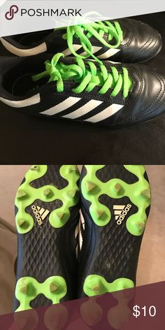 Cleats size 2 little kids barely used Adidas cleats used one soccer season but in great shape! adidas Shoes