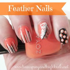 DIY+Feather+Nails+