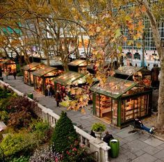 Bryant Park---loved the cute little shops