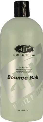 Hantz Professional Bounce Bak Liter by Hantz Professional Hair Care Products. $20.50. Reduces frizzy hair and smoothes curls.. Bounce Bak smoothes the outer cuticle surface of hair and seals and protects essential nutrients within the hair.. Hantz Professional Bounce Bak arouses lazy curls and prevents relaxation on naturally curly or permed hair.. Spray Bounce Bak, scrunch hair and dry naturally - simple to use.. Hantz Professional Bounce Bak arouses lazy curls and prevents r...