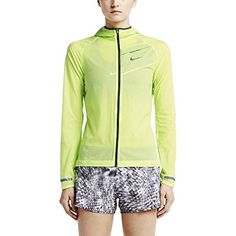 Nike Womens Impossibly Light Reflective Running Jacket X-Large Key Lime Reflective Silver