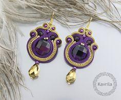 K.Avril - soutache oriental purple earrings