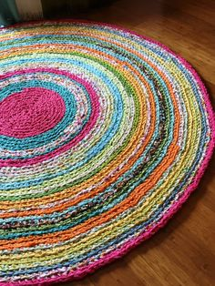 Hey, I found this really awesome Etsy listing at https://www.etsy.com/listing/238969257/round-rug-multicolored-memory-rag-rug