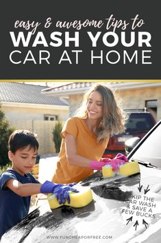 Skip the luxury car wash stations and learn to do it yourself. We'll show you how to wash your car at home and save money! Homemade Car Wash Soap, Ways To Save Money, Money Tips, Wash Car At Home, Living On A Budget, Frugal Living, Planning Budget, Best Blogs, Life Insurance