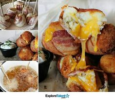 Cheesy mashed potato bacon bombs