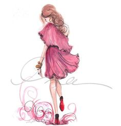 Pinkalicious frock Fashion Illustrations by Inslee Haynes