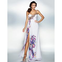 Dress A-line Sweetheart Floor-length Chiffon Dress – AUD $ 109.59