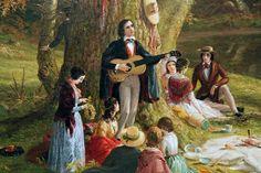 """Thomas Cole 1846, """"The Picnic"""""""