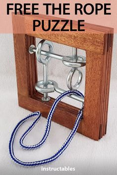 Free the Rope 2019 Create your own Free the Rope puzzle that incorporates a length of rope looped around eye bolts inside a wood frame. Can you free the rope? The post Free the Rope 2019 appeared first on Woodworking ideas. Woodworking Workshop, Woodworking Jigs, Woodworking Projects, Woodworking Furniture, Popular Woodworking, Diy Wood Projects, Wood Crafts, Projects To Try, Wood Games