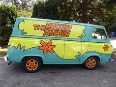 This vintage Mystery Machine is a 1965 Ford Econoline Custom Van